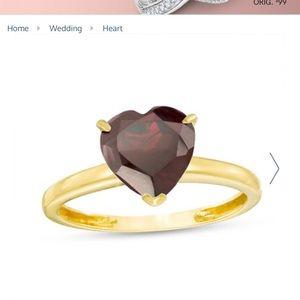 zales garnet heart ring